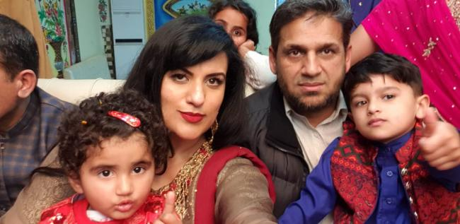 Tabassum Niamat, her husband Niamat Ali, her son Imran Ali and her husband's niece Ume-Kulsoom