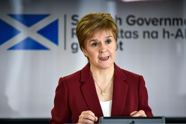 First Minister Nicola Sturgeon speaking at a coronavirus briefing at St Andrews House in Edinburgh. PA Photo. Picture date: Sunday March 29, 2020. See PA story HEALTH Coronavirus Scotland. Photo credit should read: Jeff J Mitchell/PA Wire