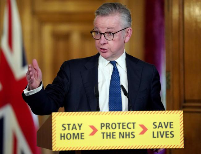 Michael Gove spoke on the theories at today's daily Downing Street press conference
