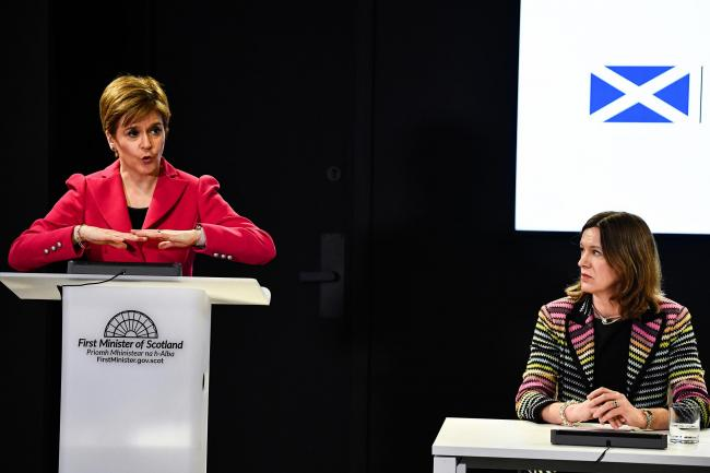 Nicola Sturgeon stressed that the new figure would be 'artificially low' due to changes in the way deaths are reported