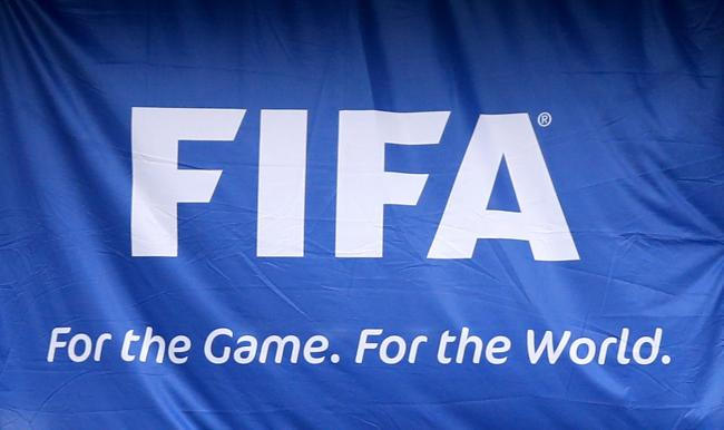 A general view of the FIFA flag. Photo: Mike Egerton/PA Wire.