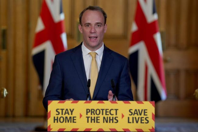 Dominic Raab is standing in for Boris Johnson