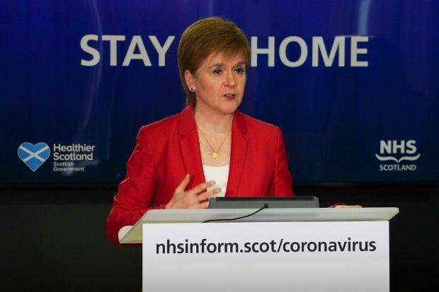 Nicola Sturgeon continued the Stay at Home message, as Wales and Northern Ireland did, when the PM changed the approach in England