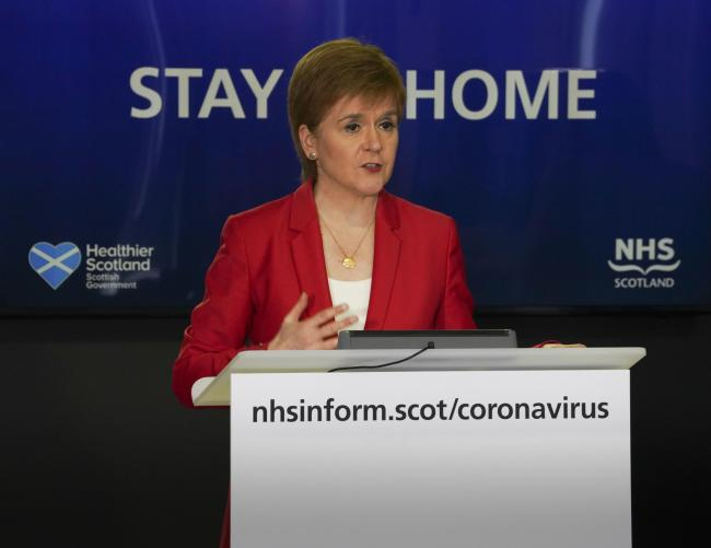 Nicola Sturgeon was quizzed on her reaction to this morning's comments