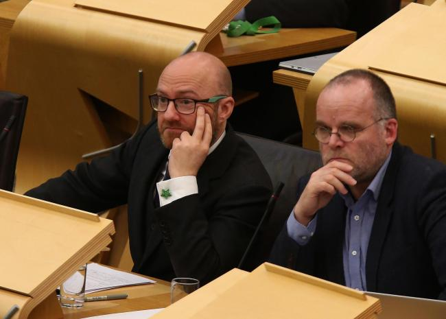 Patrick Harvie, left, and Andy Wightman of the Scottish Greens