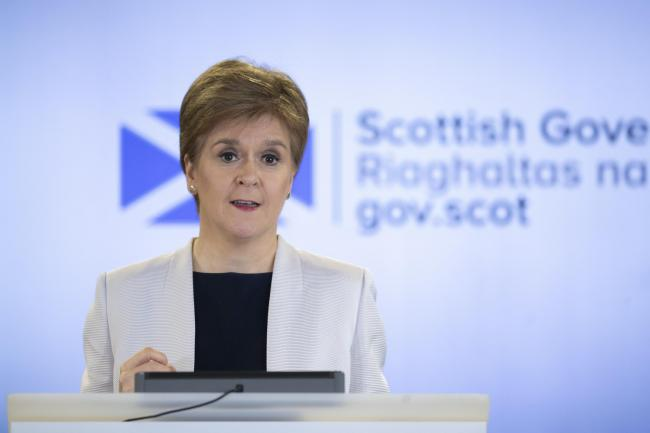 Nicola Sturgeon announced the latest figures at the Scottish Government's daily briefing