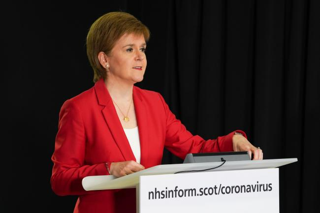 Nicola Sturgeon urged people to stick to the rules to avoid the virus flaring up again.