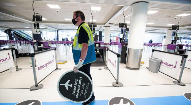 New signs at Edinburgh Airport will explain where people need to go in a colour-coded one-way system