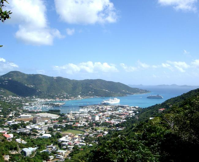 Road Town on Tortola is the capital of the British Virgin Islands