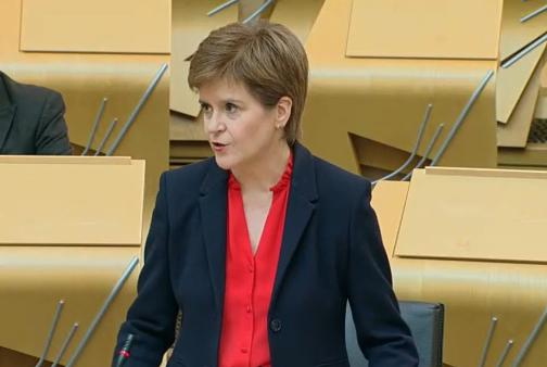 The First Minister stressed the need to keep driving the virus down