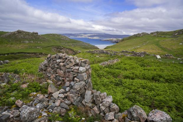 Ceannabeinne was a thriving township until the Highland Clearances of 1842, now it's ruined village near Durness, Sutherland