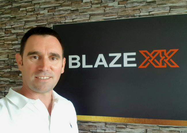 Fraser Heenan, chief executive and co-founder of Glasgow-based Blaze XK