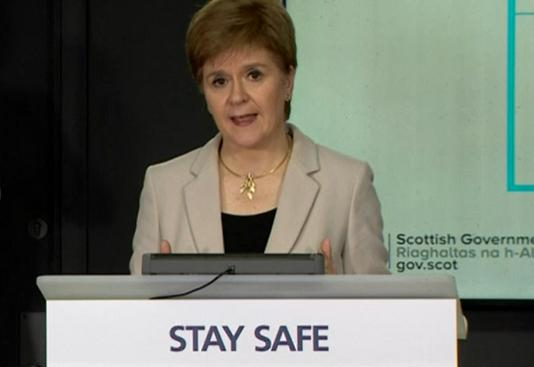 First Minister Nicola Sturgeon said house parties present a 'considerable risk'