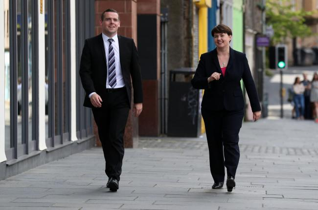 Former leader Ruth Davidson referred to Douglas Ross as her 'boss'