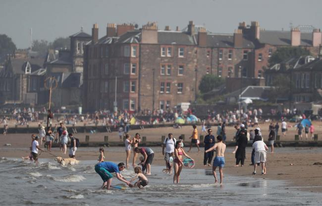 Scenes of people flocking to the beach in Portobello on Friday was a cause for concern