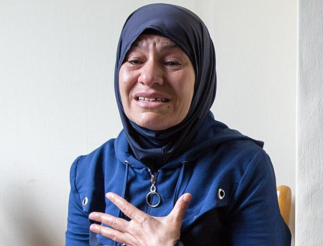 Heyam Khaled Srour, a Syrian refugee, has approximately three months to live at her home in Clydebank with her husband