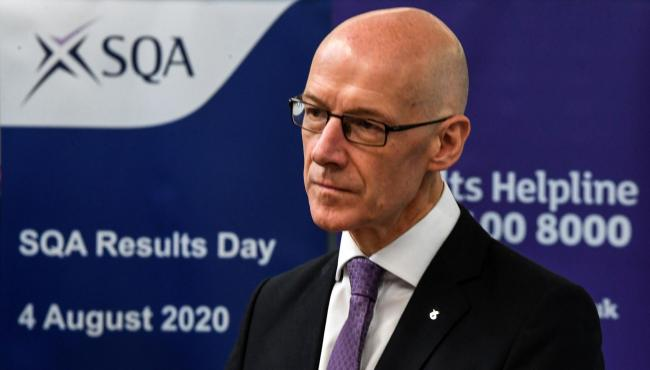 John Swinney has come under fire over the exam grades row