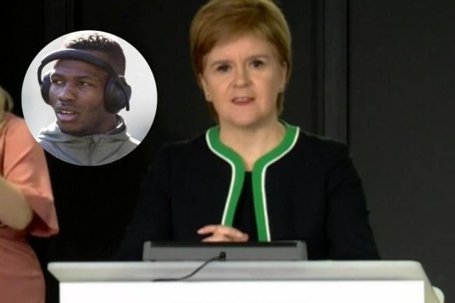 Nicola Sturgeon set out a warning to Scottish football clubs after Boli Bolingoli's actions