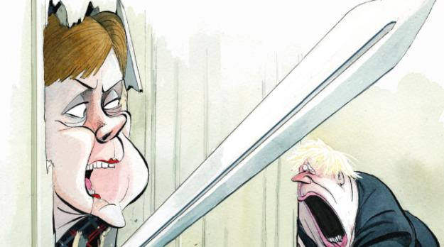 The Spectator has depicted Nicola Sturgeon as Jack Nicolson's crazed killer in The Shining