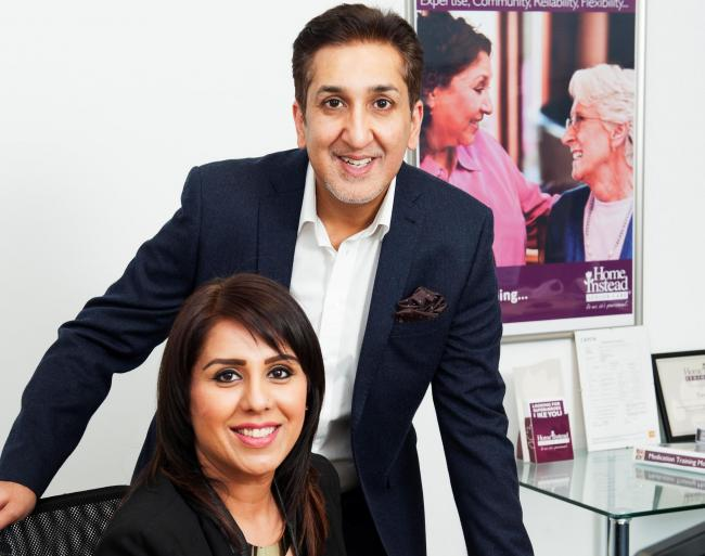 Glasgow husband and wife, Suhail and Tasnim Rehman, owners of Home Instead