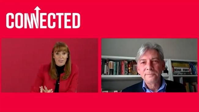 Richard Leonard and Angela Rayner were speaking at Labour Connected, a four-day online event of 'keynotes, training, rallies, policy discussions'