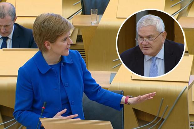 Nicola Sturgeon clashed with Mike Rumbles during a debate in the Scottish Parliament