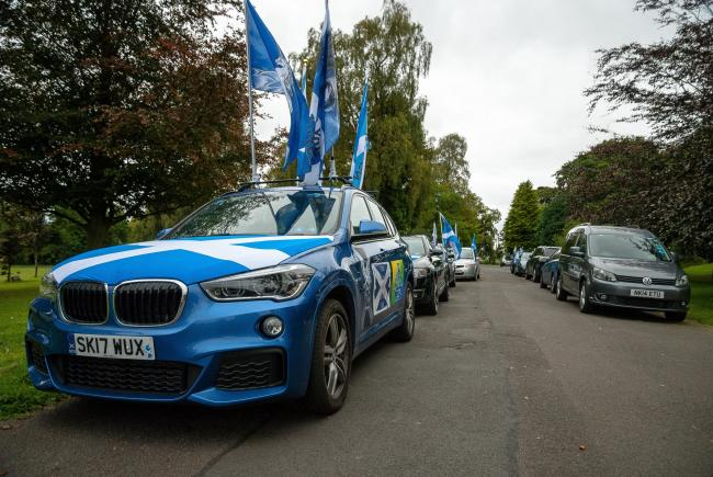 Independence convoys from around Scotland will drive part Arbroath Abbey this Saturday