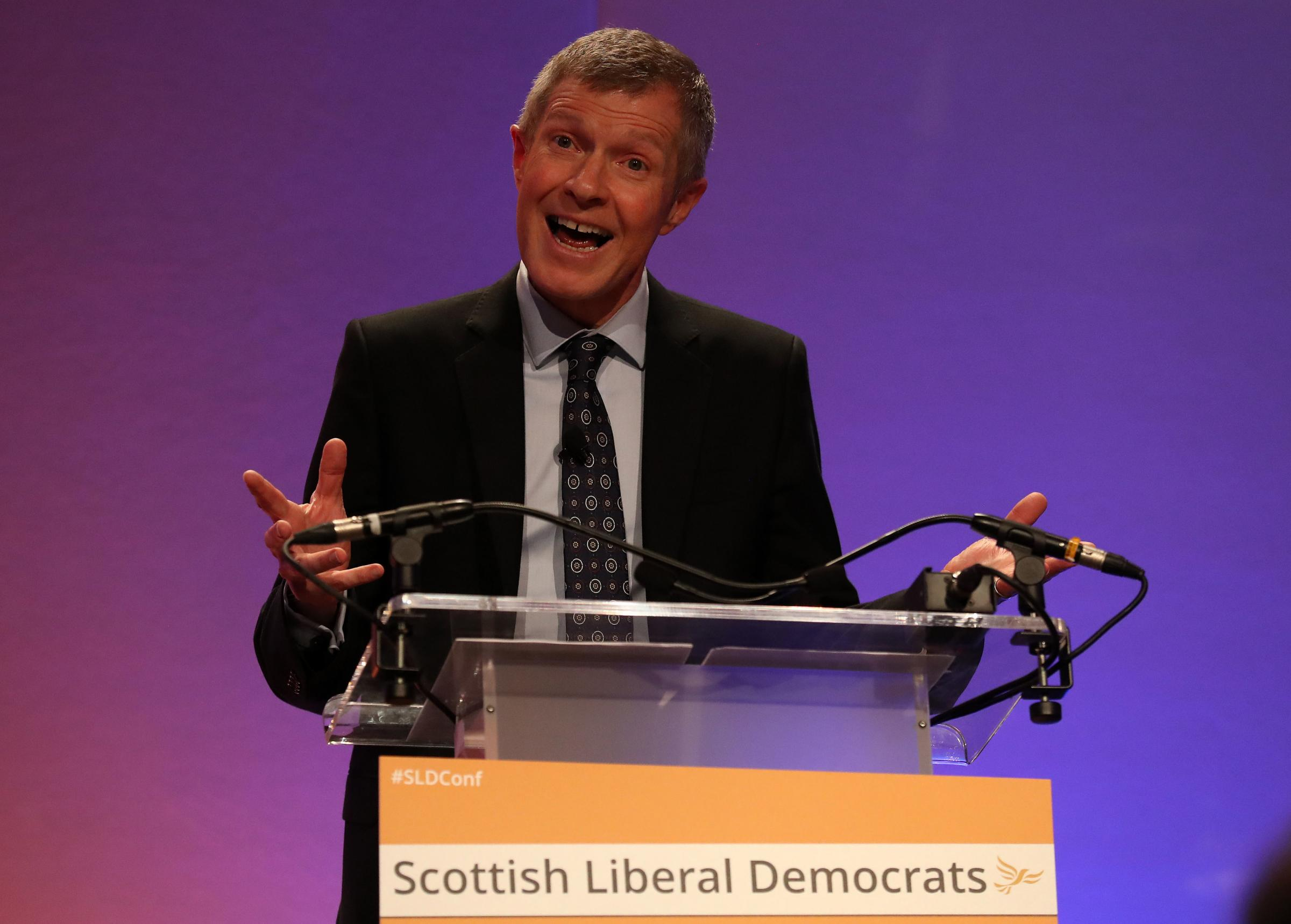 Willie Rennie urges Scots to reject both Boris Johnson and independence