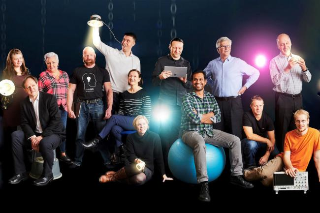 The pureLiFi team.  pureLiFi has been crowned Scotland's most innovative technology company for 2020