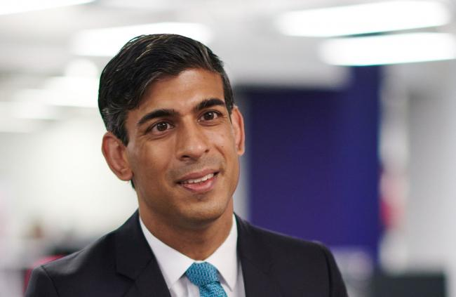 Chancellor Rishi Sunak praised Boris Johnson at the Tory party conference