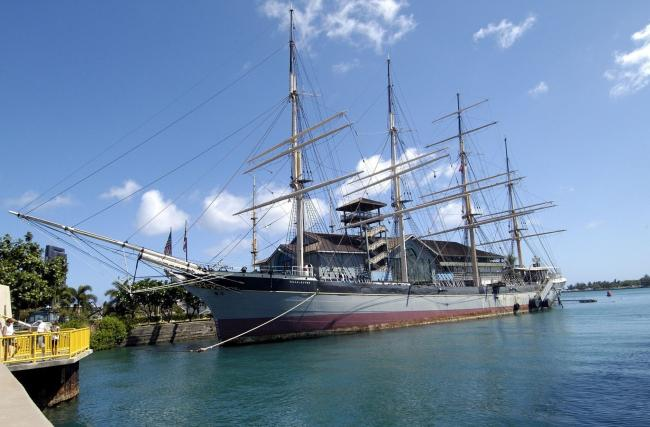 The Falls of Clyde, anchored beside the Maritime Museum in Honolulu, is at risk of scuttling