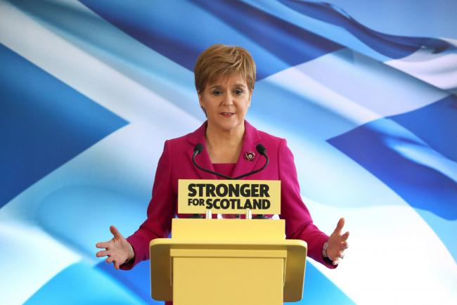 Nicola Sturgeon's comments came in the wake of the latest bombshell poll from Ipsos MORI which put the Yes vote on 58%