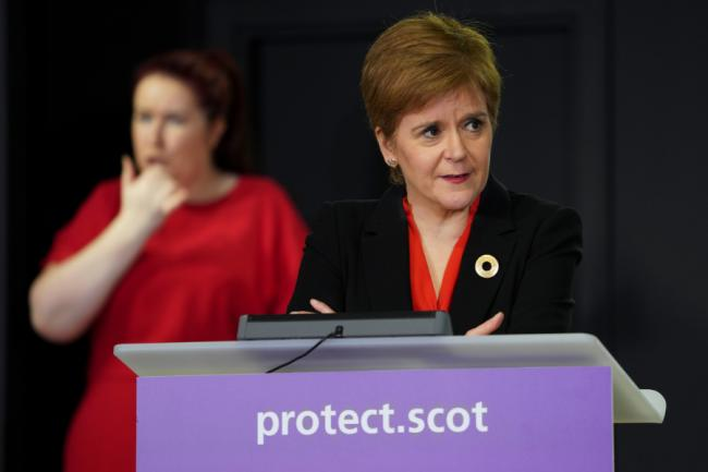 Nicola Sturgeon updated MSPs during a virtual call to the Scottish Parliament