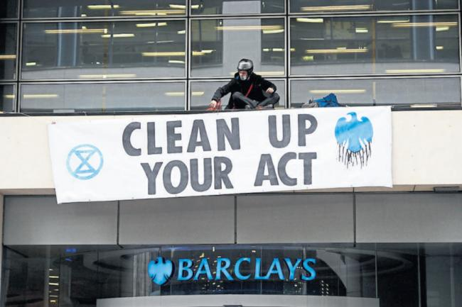 XR Highlands and Islands will take their message to Barclays bank, demanding they clear up their act