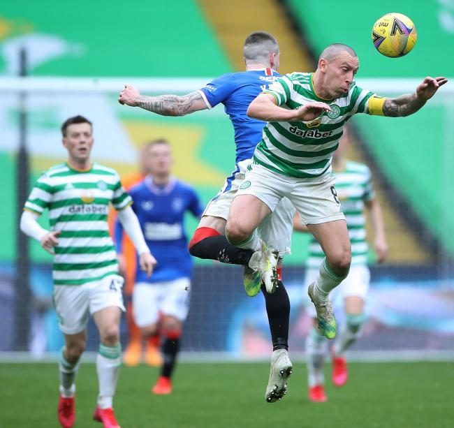 Scott Brown couldn't inspire his Celtic teammates as they fell to defeat against Rangers.