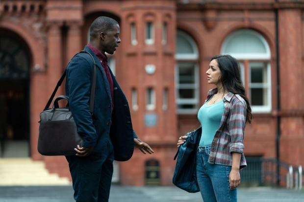 WARNING: Embargoed for publication until 00:00:01 on 29/09/2020 - Programme Name: Life - TX: n/a - Episode: n/a (No. 2) - Picture Shows:  David (ADRIAN LESTER), Saira (SAIRA CHOUDHRY) - (C) Drama Republic - Photographer: James Stack.