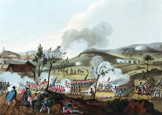 The British under General Sir John Moore were able to hold the French off long enough to be evacuated at the Battle of Corunna