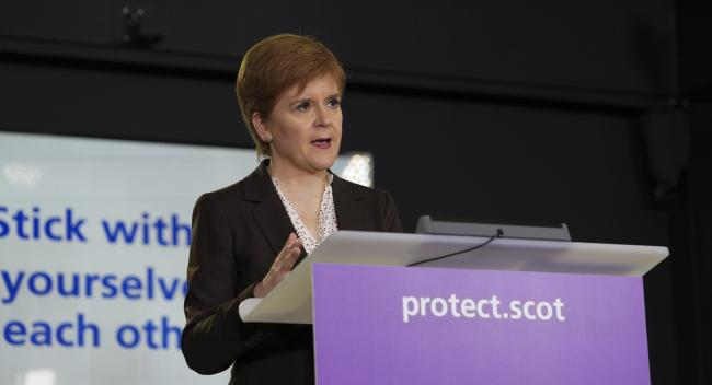 Nicola Sturgeon said there are no plans to lift the household visiting ban in Scotland