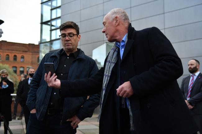 Andy Burnham had to learn over mobile that Boris Johnson had offered a paltry sum for his city