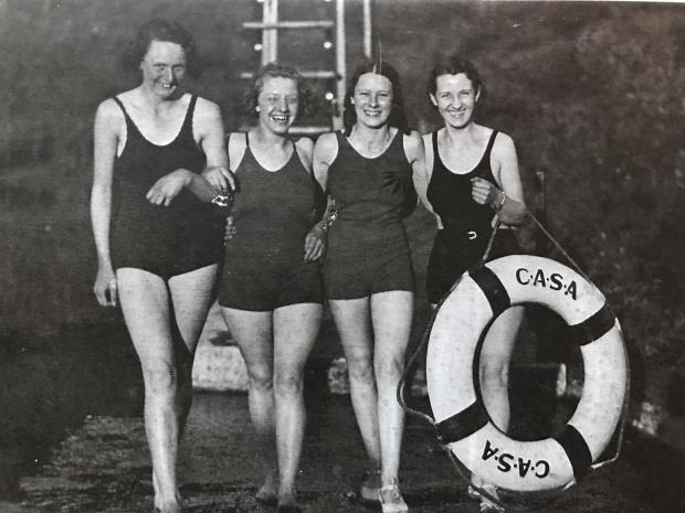 The National: Swimmers at the Carbeth pool