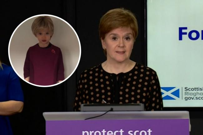 Nicola Sturgeon praised the young Scot as a 'wee star'