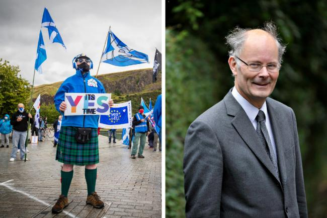 Sir John Curtice's Scottish Social Attitudes Survey has shown a large shift towards a Yes vote over time