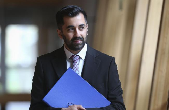 Humza Yousaf was the target of an offensive message on Twitter