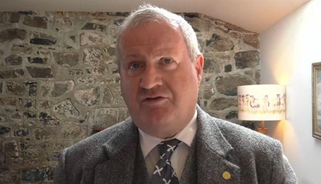 Ian Blackford was grilled by Lesley Riddoch during the All Under One Banner assembly