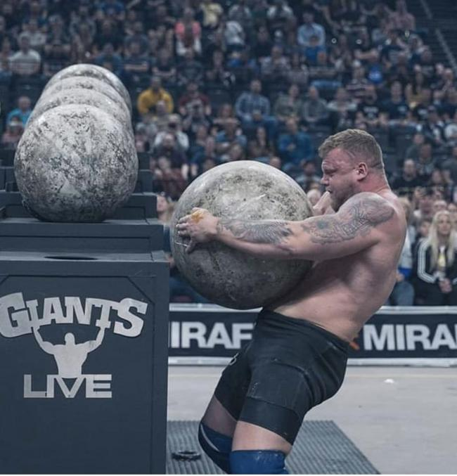 Tom Stoltman holds the world record for the heaviest Atlas Stone ever lifted at 286kg