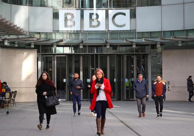 The BBC has fallen below the other UK broadcasters in its impartiality score