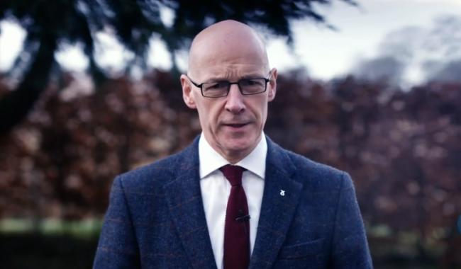 John Swinney addressed the virtual SNP conference