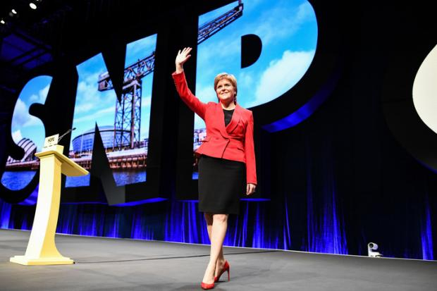 We got a more reflective, pared-down Nicola Sturgeon who was careful to strike a respectful tone in keeping with the mood of the country