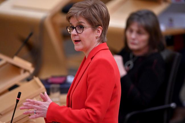 Nicola Sturgeon hit out at the Scottish Tories, referring to them as 'Boris Johnson's mouthpiece'