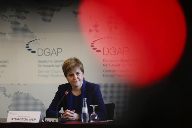 Nicola Sturgeon at a meeting of the German Council on Foreign Relations in Berlin in September 2019.